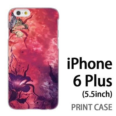 iPhone6 Plus (5.5インチ) 用『0116 水面に咲く花 赤』特殊印刷ケース【 iphone6 plus iphone アイフォン アイフォン6 プラス au docomo softbank Apple ケース プリント カバー スマホケース スマホカバー 】の画像