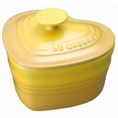 ル・クルーゼ(LE CREUSET) ラムカン・ダムール(フタ付き) ディジョンイエロー 【日用品 保存容器・ストッカー】の画像