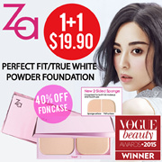 🌟(1+1)ZA🌟TheBeautyQueen x ZA [Shiseido]2 Way Foundation-True White