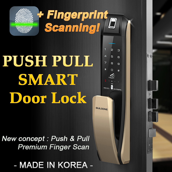 [?FINGERPRINT+PUSH FROM OUTSIDE?] NEW FINGERPRINT PUSH PULL DIGITAL SMART DOORLOCK H7090PSK Deals for only S$500 instead of S$0