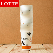 25p Lotte e-life Eco-Friendly, Disposable To Go Paper Cups-340ml