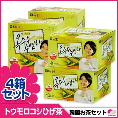 【韓国お茶セット8】【40T4箱セット】ダムトとうもろこしのひげ茶60g(1.5g×40)x4箱 ティーバッグの画像