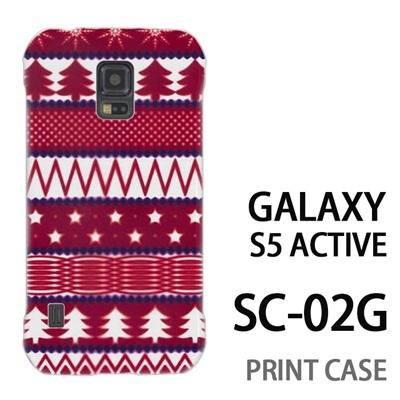 GALAXY S5 Active SC-02G 用『1218 もみの木ストライプ 赤』特殊印刷ケース【 galaxy s5 active SC-02G sc02g SC02G galaxys5 ギャラクシー ギャラクシーs5 アクティブ docomo ケース プリント カバー スマホケース スマホカバー】の画像