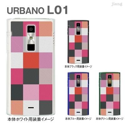 【URBANO L01】【L01 ケース】【au】【カバー】【スマホケース】【クリアケース】【チェック・ボーダー・ドット】【チェック柄】 06-l01-ca0032pkの画像