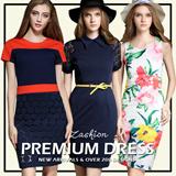 European Style Print Dress/Sleeveless Dress/ Striped Dress Sexy Package Hip Dress