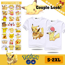 UNISEX-Couple Look~! ▶POKEMON / POCKET MONSTER T-shirts◀ 24 patterns/ Cute Men and WOMEN Top/ Pikachu pattern/ comfortable and breathable/ S-2XL-Up to 5、1 Shipping Fee