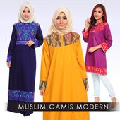 Busana Muslim - Baju Gamis - Blouse Muslim Batik Modern - corak indah