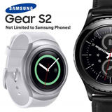 Genuine 2015 Samsung Galaxy Gear S2 SmartWatch silicone strap / IP68 rated Water Resistant / Android WI-FI version NEW