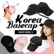★FREE-SHIPPING $5.90! Korean caps ★Celebrity collection / baseball cap / solid color / logo embroide