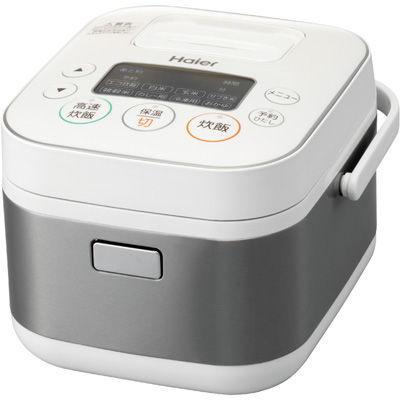 ハイアールスタイリッシュで使いやすい2.5mm「銅コート極厚釜」採用!3合炊きマイコン炊飯器(ホワイト)JJ-M31A-W