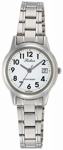 [シチズン キューアンドキュー]CITIZEN Q&Q 腕時計 Falcon ファルコン アナログ ブレスレット 日付 表示 ホワイト D011-204 レディース