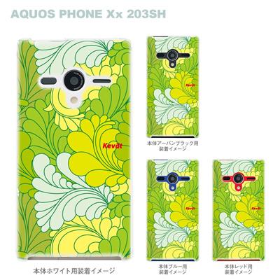【AQUOS PHONEケース】【203SH】【Soft Bank】【カバー】【スマホケース】【クリアケース】【Vuodenaika】【フラワー】 21-203sh-ne0016caの画像
