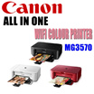 Canon All In One Printer MG3670 Print/Scan/Copy (Available in Black White and Red) *New Model*