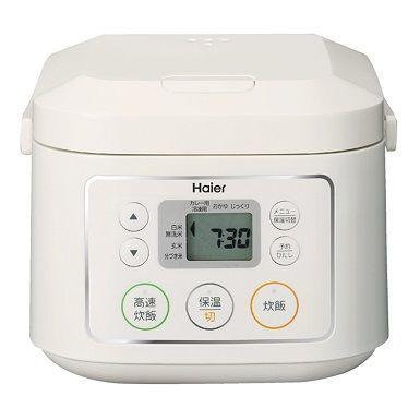 ハイアールひとり暮らしにぴったり!3合炊きマイコン炊飯器(ホワイト)JJ-M30C-W