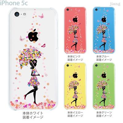 【iPhone5c】【iPhone5cケース】【iPhone5cカバー】【iPhone ケース】【クリア カバー】【スマホケース】【クリアケース】【イラスト】【クリアーアーツ】【フラワーガール】【花のシャワー】 01-ip5c-zec033の画像