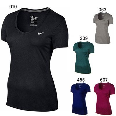 ナイキ (NIKE) ウィメンズ Vネック レジェンド S/S Tシャツ 684684 [分類:Tシャツ (レディース)]の画像