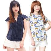 NEW Model Women Butterfly sleeve blouse-Best seller women blouse
