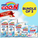 [GOO.N]【BUNDLE OF 3】Japan Version Diapers | Specially For Sensitive Baby Skin