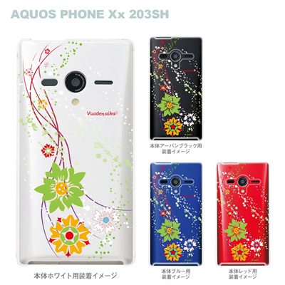 【AQUOS PHONEケース】【203SH】【Soft Bank】【カバー】【スマホケース】【クリアケース】【Vuodenaika】【フラワー】 21-203sh-ne0031caの画像
