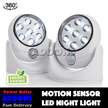 Motion Activated Cordless LED Night Light / Light Angel / Auto Sensor / 360degree adjustable / As Seen On TV / Baby Kid Doorway Bed Side Cupboard Wardrobe