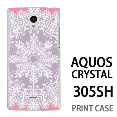 AQUOS CRYSTAL 305SH 用『1216 結晶 白』特殊印刷ケース【 aquos crystal 305sh アクオス クリスタル アクオスクリスタル softbank ケース プリント カバー スマホケース スマホカバー 】の画像