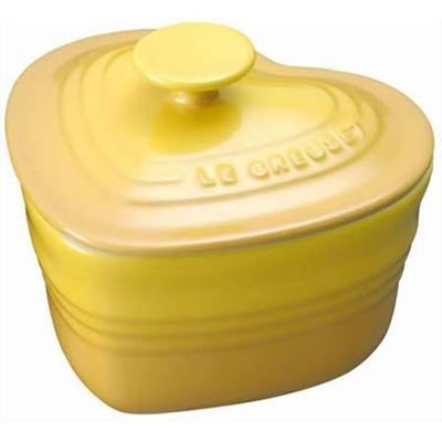 ル・クルーゼ(LE CREUSET) ラムカン・ダムール(S・フタ付き) ディジョンイエロー 【日用品 保存容器・ストッカー】の画像