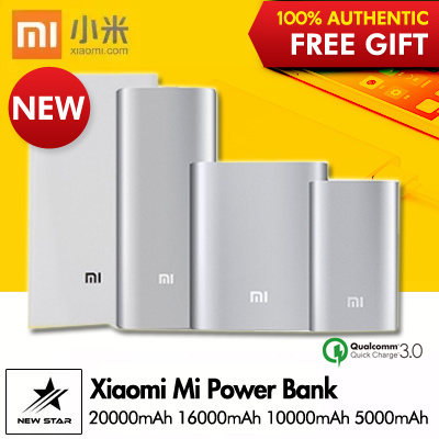 100% Authentic?Xiaomi Mi Power Bank 20000mAh 16000mAh 10000mAh 5000mAh PowerBank? Deals for only S$69.99 instead of S$0