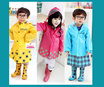 Cute Cartoon Kids Children rain coat Linda Funny Smally