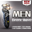 [LAUNCH SALE $25.90] Men's Wet and Dry Electric Shaver / Technology #1 Auto Razor on Sensitive Skin! / Water Proof / Easy Cleaning / Cordless / All Degree Shaving