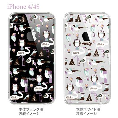 【iPhone4/4Sケース】【カバー】【スマホケース】【クリアケース】【おおでゆかこ】【Birds】 33-ip4-yo0003の画像