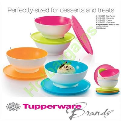 qoo10 tupperware allegra desert bowls with cover bpa free lifetime wa kitchen dining. Black Bedroom Furniture Sets. Home Design Ideas