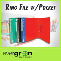 ZS-502/D A4 2D PP Ring File w/Pocket (2012)