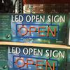 【送料無料】LED OPED SIGN オープンサイン 常時・点滅2パターン 550×185.4×43mm リモコン付