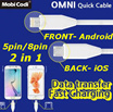 Mobi Codi OMNI Quick Cable DC-58M10 1M Android Apple Fast Speed Charging Date Transfer 5pin 8pin Galaxy iPhone