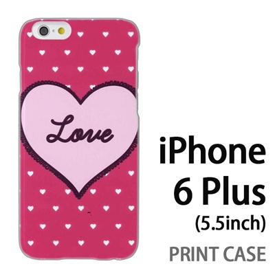 iPhone6 Plus (5.5インチ) 用『0117 ラブハート ピンク』特殊印刷ケース【 iphone6 plus iphone アイフォン アイフォン6 プラス au docomo softbank Apple ケース プリント カバー スマホケース スマホカバー 】の画像