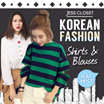23/6 BLOUSES NEW ARRIVAL GSS FLAT PRICE] 2016 Korea women fashion style long / short sleeve blouses/tops/shirt many designs