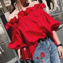 可愛い花柄刺繍コットンブラウス 夏ブラウス/白ブラウス/半袖/Vネック/ゆったりシルエット ♥鎖骨ラインがきれいに見えるVネック♥ 活用度の高く着られるブラウス♥かわいかった♡ 年齢問わず、着れるかも
