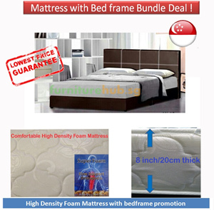 cheapest high quality mattress 8 inches thick quilted with bedframe promotion free delivery