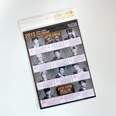 SUPER JUNIOR 2015 カレンダー ミニ シール / イトゥク ウニョク ドンヘ シウォン ママシタ MAMACITA アヤヤ AYAYA 2015 calendar スーパージュニア kpop a5サイズの画像