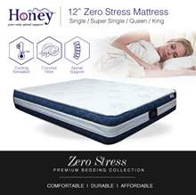 DELIVER BY CNY Medellin® 12inch Zero Stress Spring Mattress | Coconut Fibre | Spinal Support |