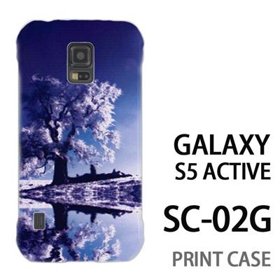 GALAXY S5 Active SC-02G 用『1218 雪原の木』特殊印刷ケース【 galaxy s5 active SC-02G sc02g SC02G galaxys5 ギャラクシー ギャラクシーs5 アクティブ docomo ケース プリント カバー スマホケース スマホカバー】の画像