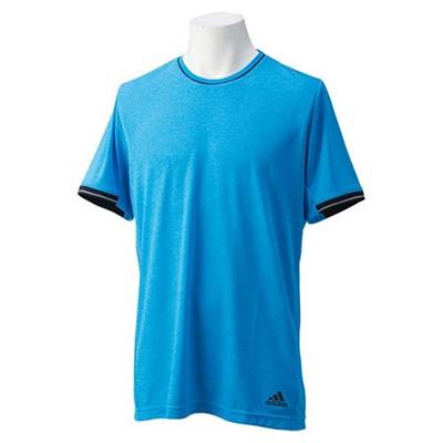 アディダス(adidas) M Snova クライマチル 半袖シャツ ITT90 S86869 チルBLU/BLK 【ランニング メンズ トレーニングウェア】の画像