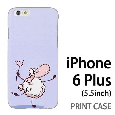 iPhone6 Plus (5.5インチ) 用『0310 ダンシング羊 青』特殊印刷ケース【 iphone6 plus iphone アイフォン アイフォン6 プラス au docomo softbank Apple ケース プリント カバー スマホケース スマホカバー 】の画像