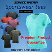 $16.90 Today only! Lady Fitted Tee Sportswear - IONICWEAR Sport wear Anti odour Dry fit