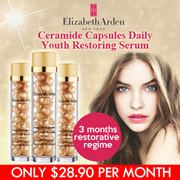 [LESS THAN $28.90 PER MONTH] Elizabeth Arden Ceramide Capsules Daily Youth Restoring Serum 90capsules