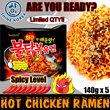 [SAMYANG]HOT Chicken Ramen [5PKTS][SUPER SPICY][Limited Qty][ShineKorea][Bestseller][FIRE NOODLES][CHALLENGE]