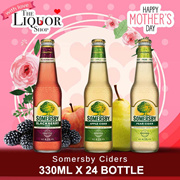 [SOMERSBY] SOMERSBY APPLE / SOMERSBY PEAR / SOMERSBY BLACKBERRY 330ML X 24 BOTTLES