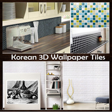 Peel Stick 3d Foam Brick Wallpaper / Self adhensive / Wall Sticker Real foam / Wall Paper decoration