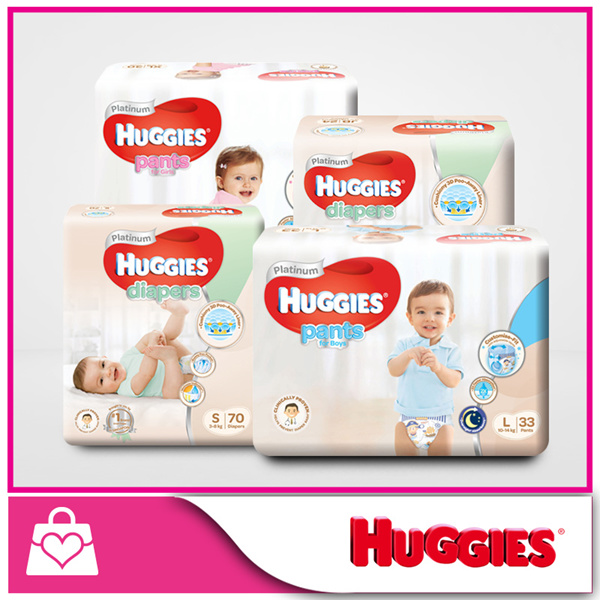 [Use Coupon For Discount] HUGGIES?CARTON SALE? NEW Platinum!!! - Diapers Tape and Pants Deals for only S$83.8 instead of S$0
