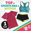 Sportswear 3pcs set special promo / Premium Sports Yoga Zumba Gym Running Bra Premium Ladies Sports Bra / Sports Wear/